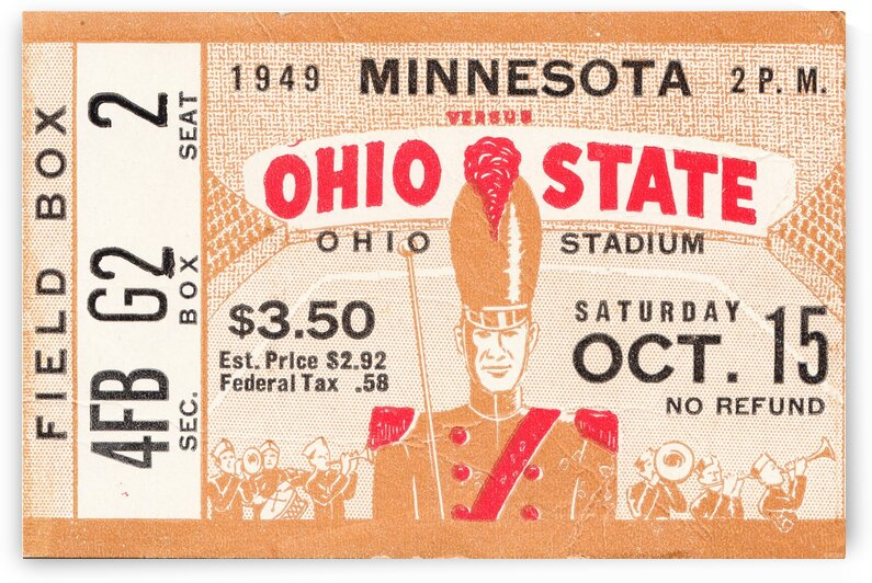 1949 Ohio State vs. Minnesota by Row One Brand