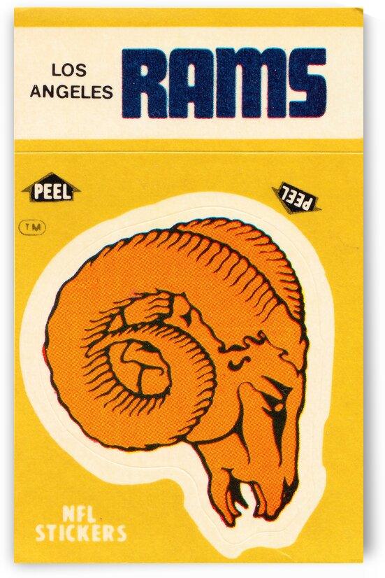 1982 Los Angeles Rams Fleer Sticker Print by Row One Brand