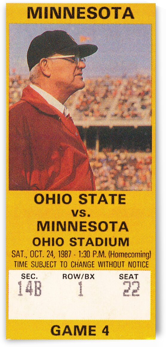1987 Ohio State vs. Minnesota by Row One Brand