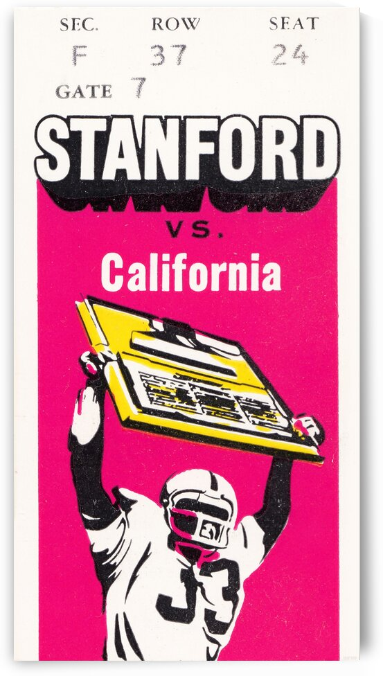 1979 California vs. Stanford by Row One Brand