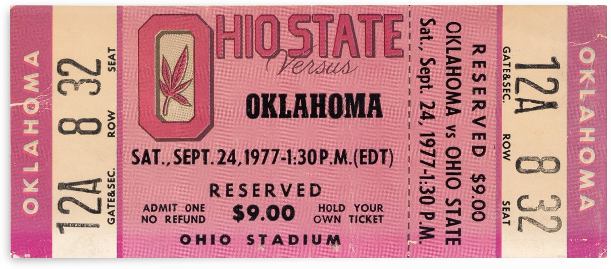 1977 Oklahoma vs. Ohio State by Row One Brand