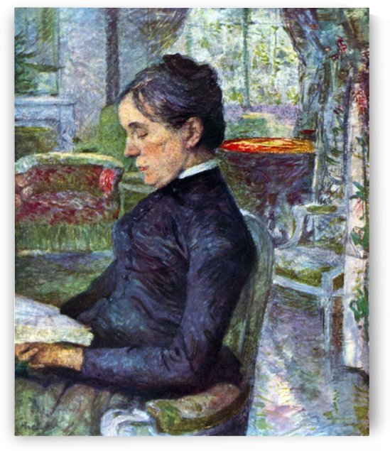 Portrait of the Countess by Toulouse-Lautrec by Toulouse-Lautrec