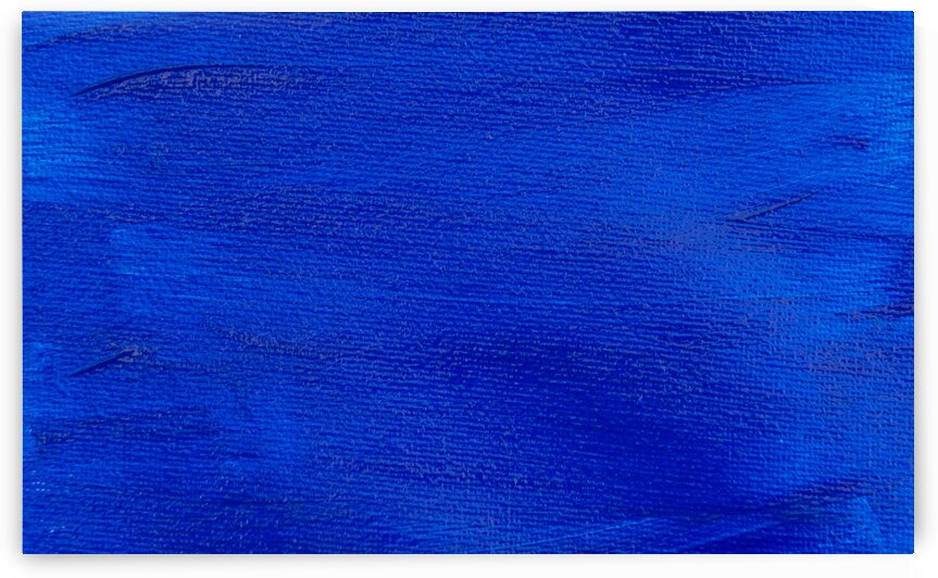 Abstract deep blue oil painting by Aquamarine