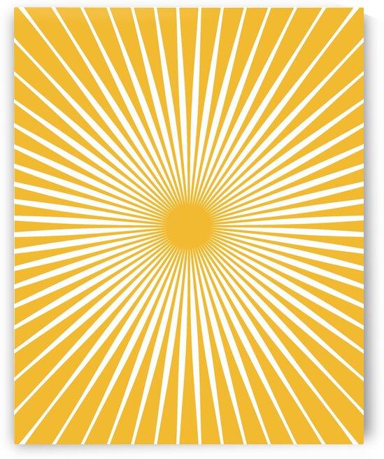Sun Mid Century Art 20037 Sun Yellow by Edit Voros