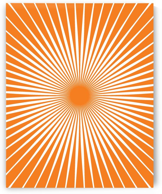 Sun Mid Century Art 20037 Orange by Edit Voros