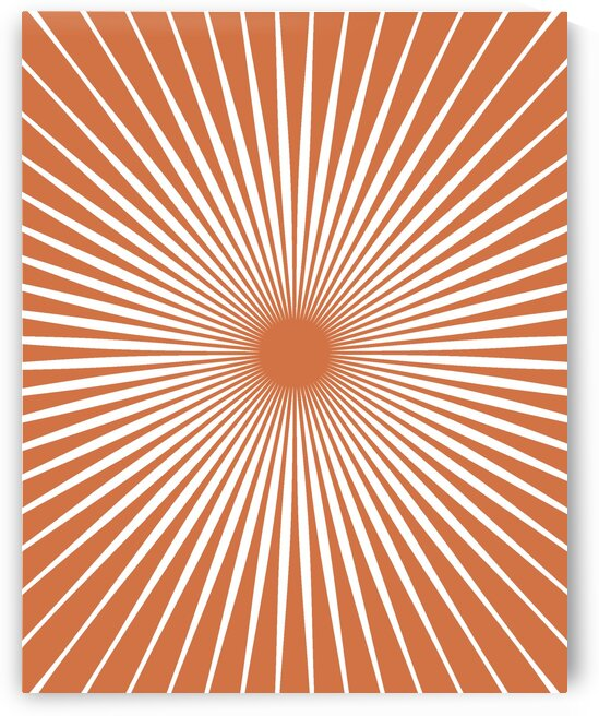 Sun Mid Century Art 20037 Terracotta by Edit Voros