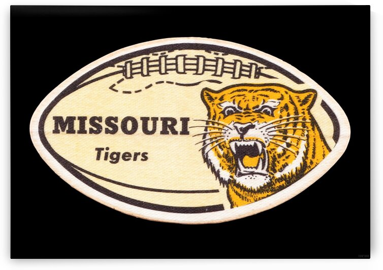 1965 Missouri Tiger Football Art by Row One Brand