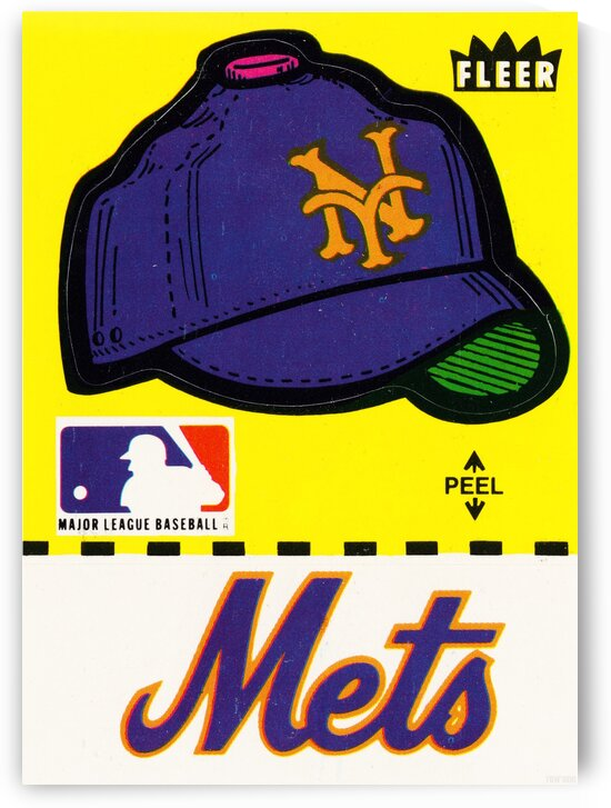 1981 New York Mets Fleer Decal Art by Row One Brand
