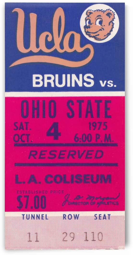 1975 UCLA vs. Ohio State by Row One Brand