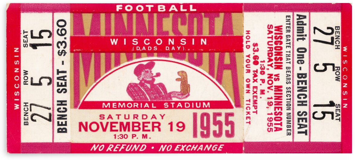 1955 Wisconsin vs. Minnesota by Row One Brand