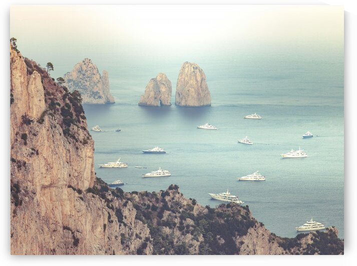 The Faraglioni Cliffs, Capri, Italy by Assaf Frank