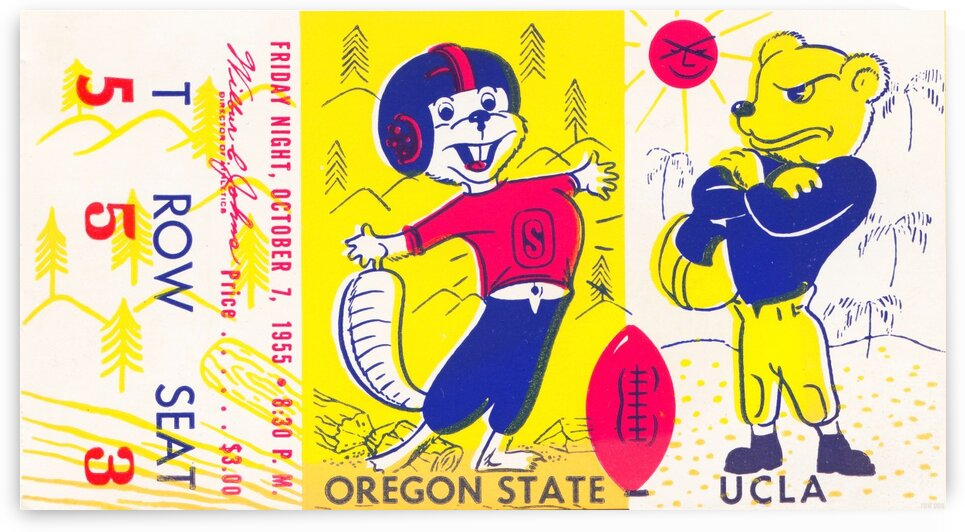 1955 Oregon State vs. UCLA by Row One Brand