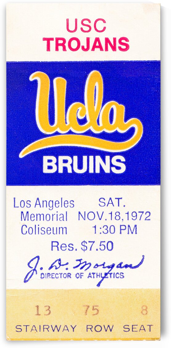 1972 USC vs. UCLA by Row One Brand