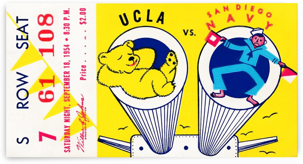 1954 UCLA vs. San Diego Navy by Row One Brand