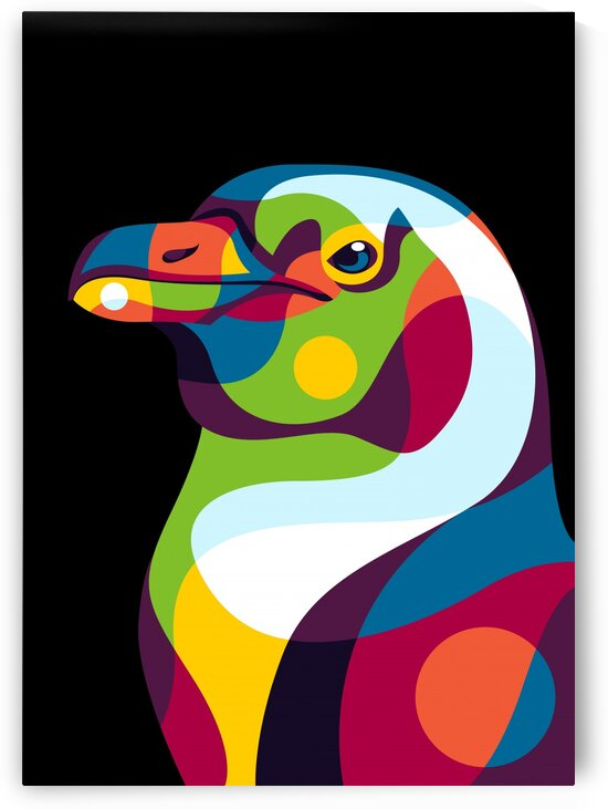 Penguin Pop Art Illustration by wpaprint