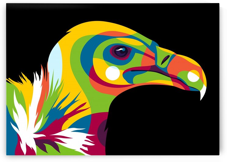 Vulture Pop Art Illustration by wpaprint