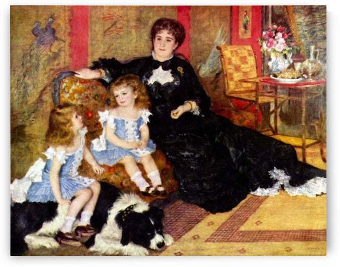 Portrait of the Mrs. Charpentier  and her children by Renoir by Renoir