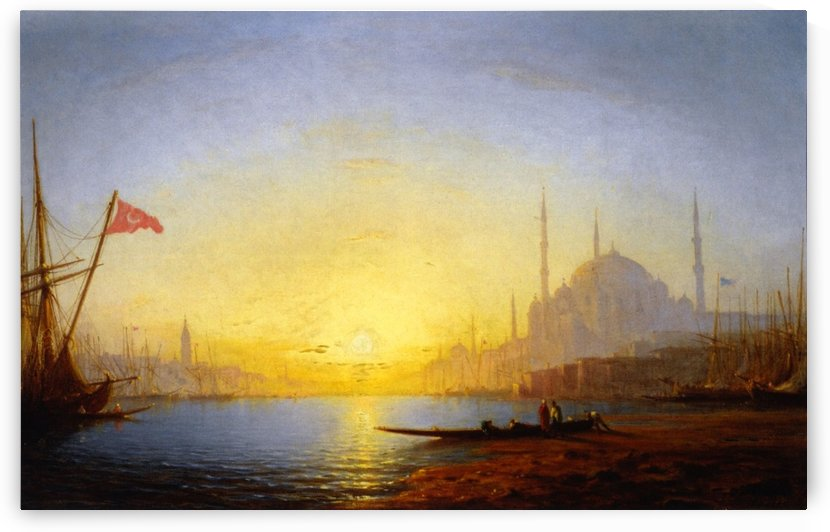 View of Constantinople by Amedee Rosier