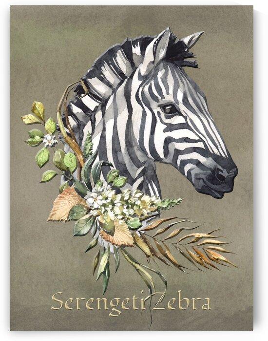 The Safari Series Serengeti Zebra  by HH Photography of Florida