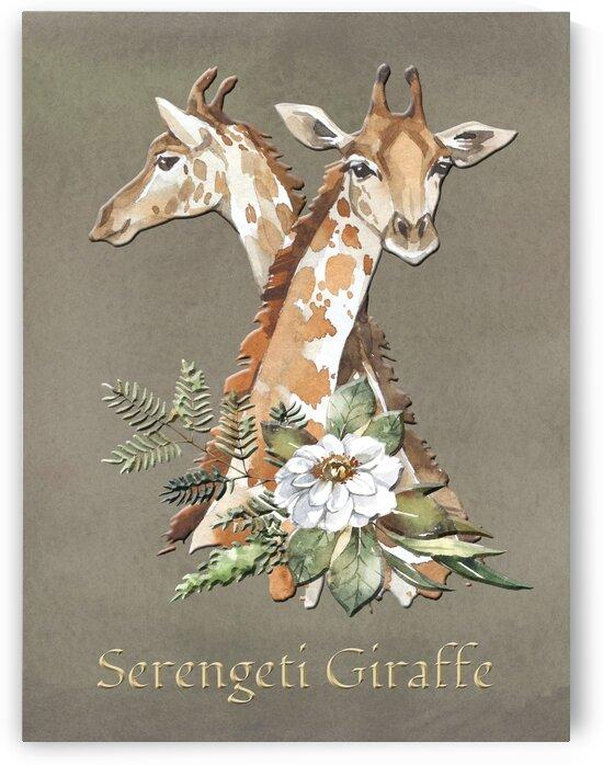 The Safari Series Serengeti Giraffe  by HH Photography of Florida