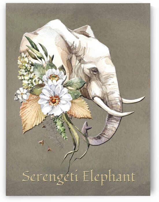 The Safari Series Serengeti Elephant by HH Photography of Florida