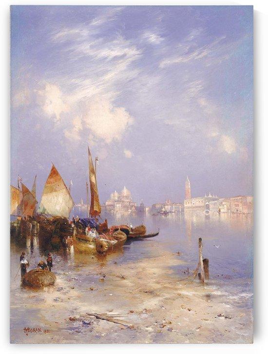 Entering Venice by Amedee Rosier