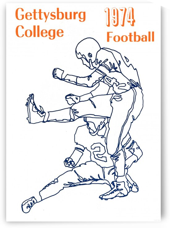 1974 Gettysburg College Football Art by Row One Brand