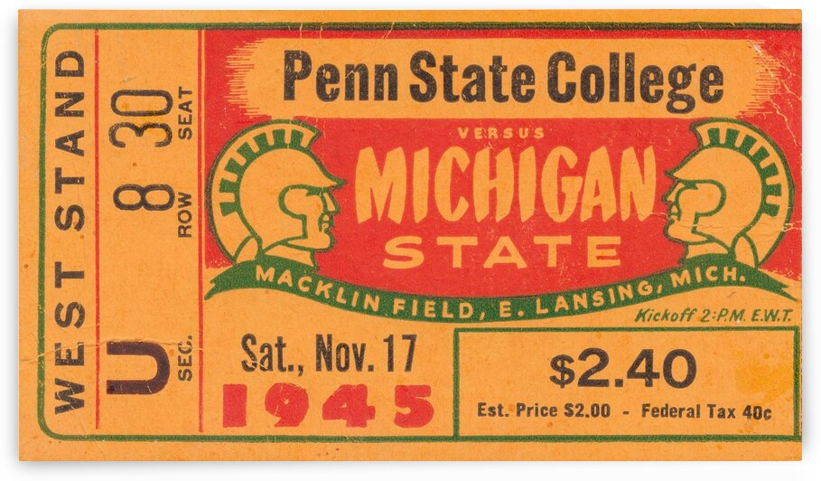 1945 Michigan State vs. Penn State by Row One Brand