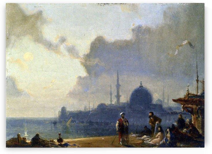 Constantinople au clair de lune by Amedee Rosier