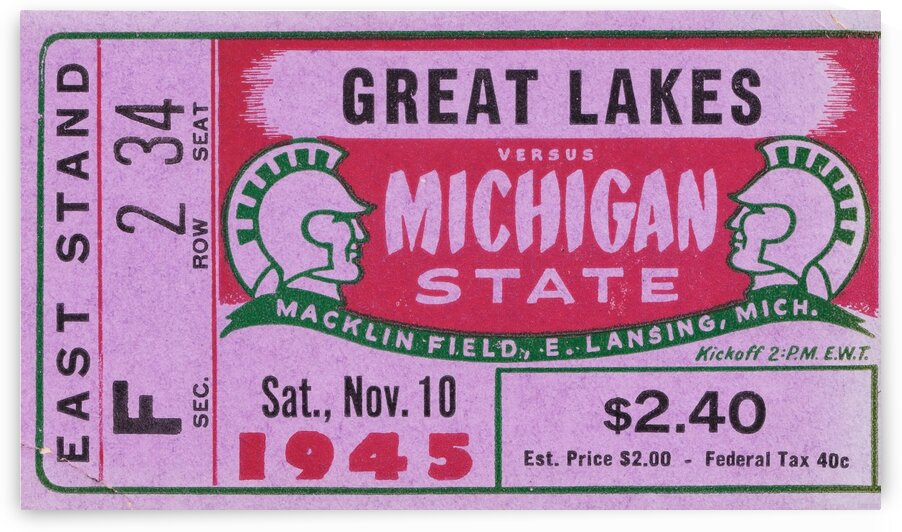 1945 Great Lakes vs. Michigan State by Row One Brand