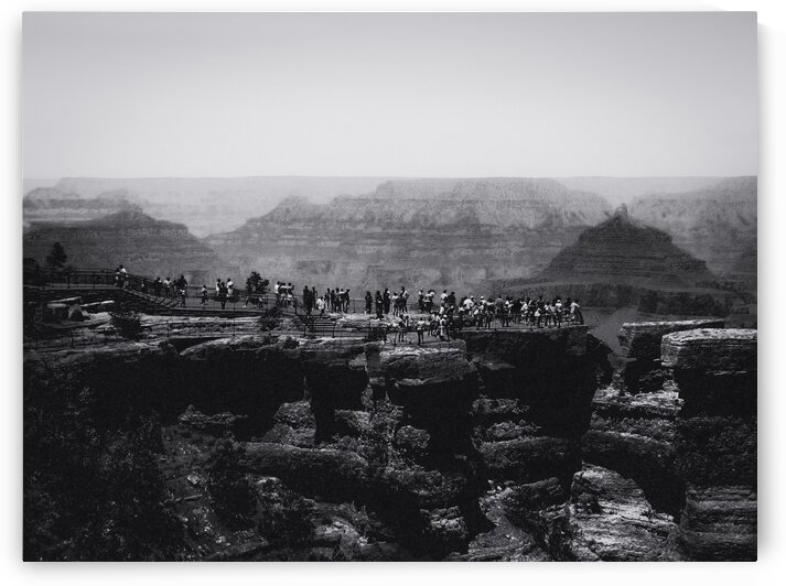 desert view at Grand Canyon national park Arizona USA in black and white by TimmyLA