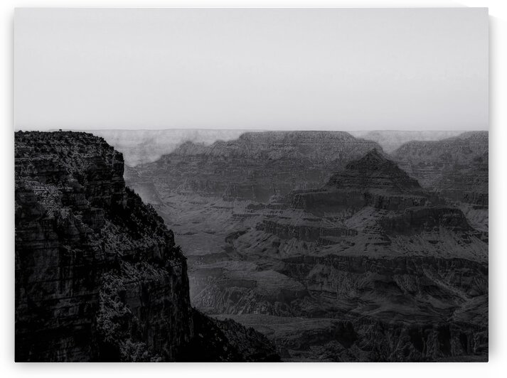 Desert in summer at Grand Canyon national park Arizona USA in black and white by TimmyLA