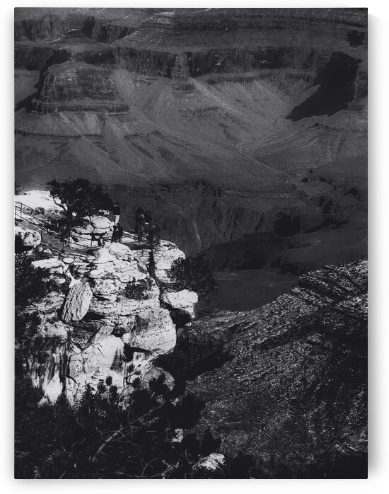 Desert scenic at Grand Canyon national park Arizona USA in black and white by TimmyLA