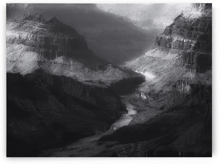 Desert at Grand Canyon national park Arizona USA in black and white by TimmyLA