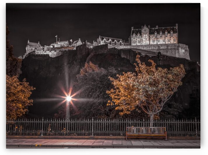 Edinburgh Castle at night by Assaf Frank