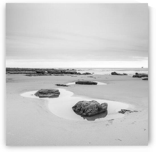 Rock pools on a sandy beach by Assaf Frank