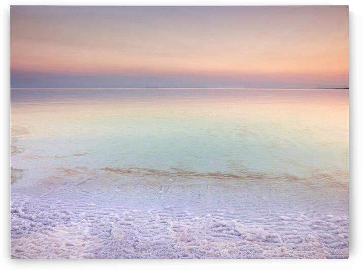 Dead sea shore at dusk, Israel by Assaf Frank