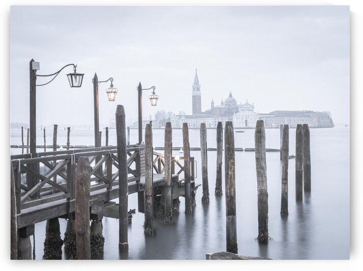 Jetty over Venetian lagoon, Venice, Italy by Assaf Frank