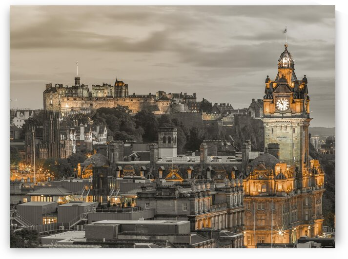 Edinburgh Castle and The Balmoral Hotel, Scotland by Assaf Frank