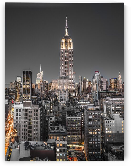 Empire State Building with New York City Manhattan skyline with skyscrapers by Assaf Frank