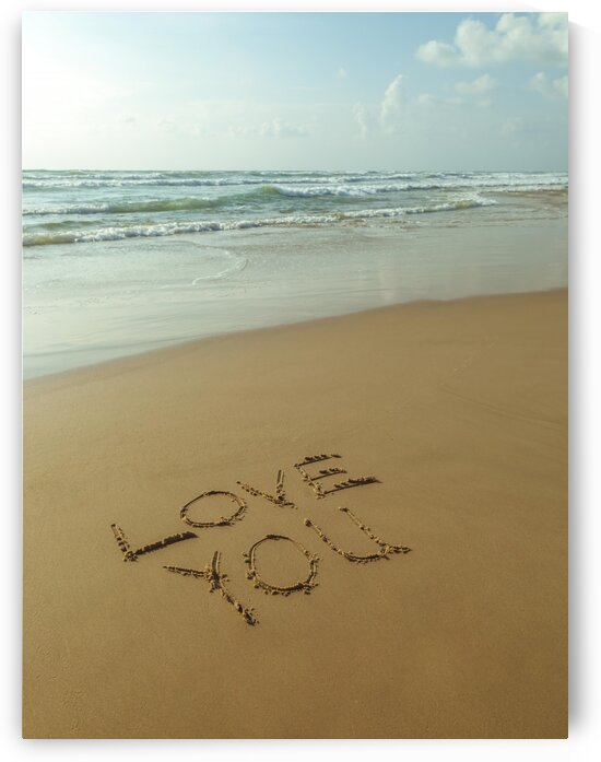 Love You - Beach writing by Assaf Frank
