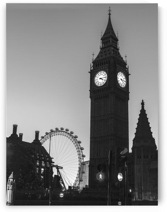 View of Big Ben from street, London, UK by Assaf Frank