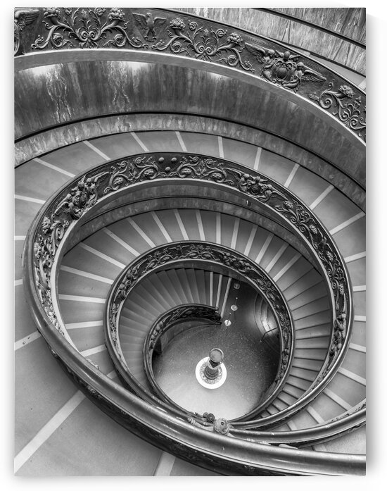 Spiral staircase at the Vatican museum, Rome, Italy by Assaf Frank