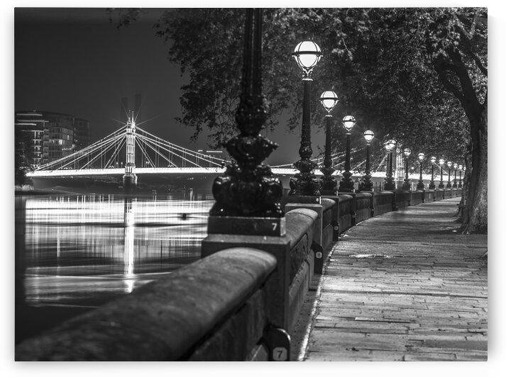 London Riverside Promenade with Albert Bridge by Assaf Frank