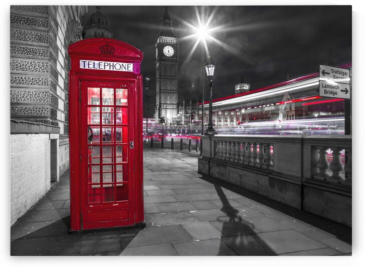 Telephone box with Big Ben, London, Uk by Assaf Frank