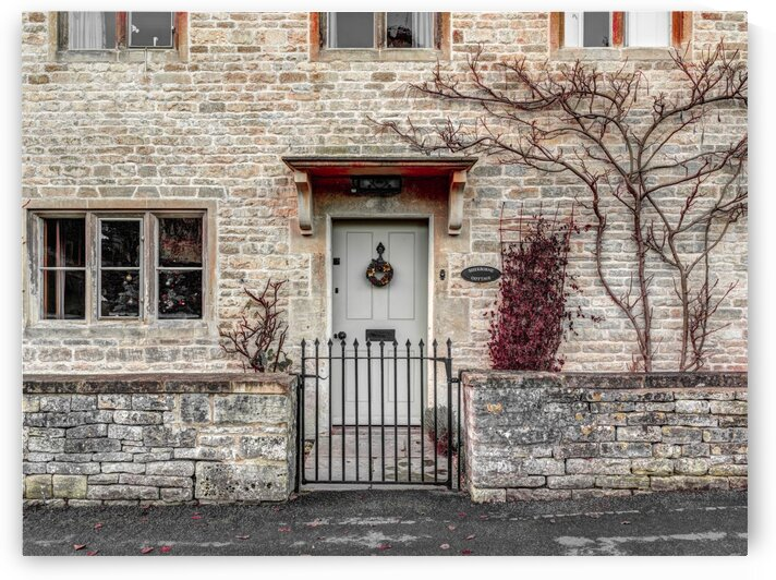 Front door of old cottage in Bibury,  Cotswold, UK by Assaf Frank