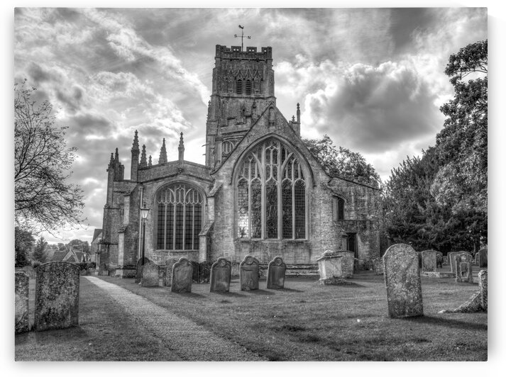 Old church in Northleach town, Cotswolds, UK by Assaf Frank