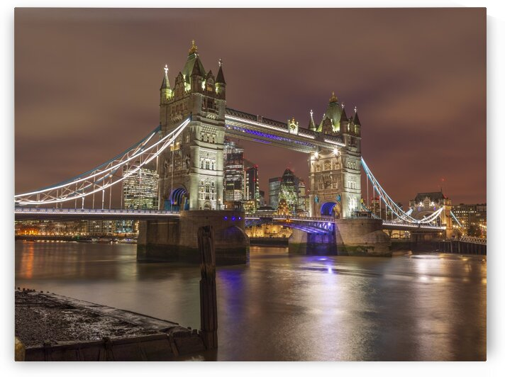 Tower bridge at night, London by Assaf Frank