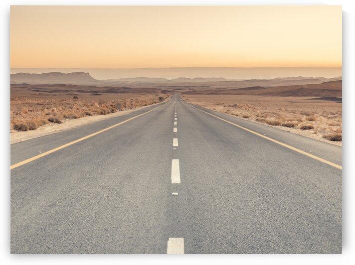 Desert road at sunrise, Israel by Assaf Frank