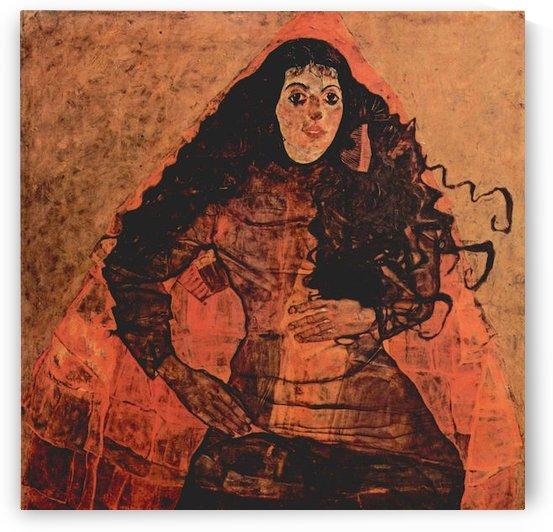Portrait of Trude Engel by Schiele by Schiele